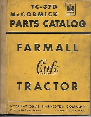 Ih Cub Tractor Mccormick Parts Catolog