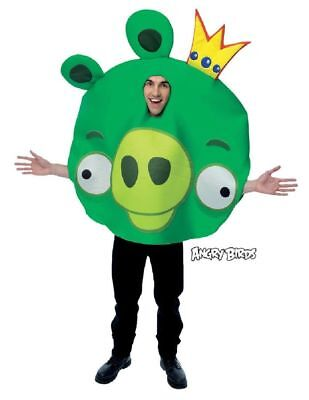 New Angry Birds KING PIG Adult Men or Women Costume PMG Halloween 2011 - Angry Birds Green Pig Halloween Costume