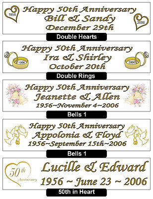 Wedding Anniversary Banners (50th GOLDEN WEDDING ANNIVERSARY BANNER -)
