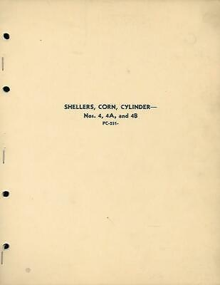 John Deere Corn Shellers No. 4 4a And 4b Parts Catalog Vintage