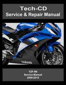 Yamaha YZF-R6 Service & Repair Manual YZFR6 2009 2010 2011 2012 2013 2014 2015