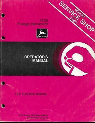 John Deere 4720 Forage Harvester Operators Manual