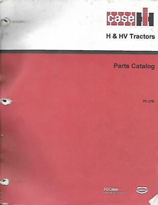 Farmall H And Hv Tractors Parts Catalog