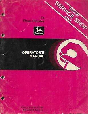 John Deere 71 Flexi Planter Operators Manual
