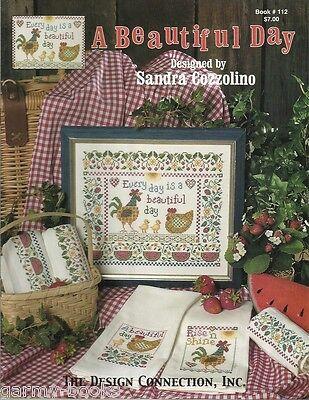 A Beautiful Day Sandra Cozzolino Design Connection #112 Cross Stitch Pattern NEW