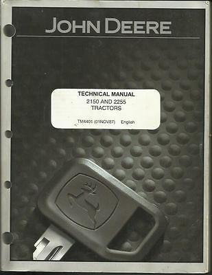 John Deere 2150 And 2255 Tractors Technical Manual