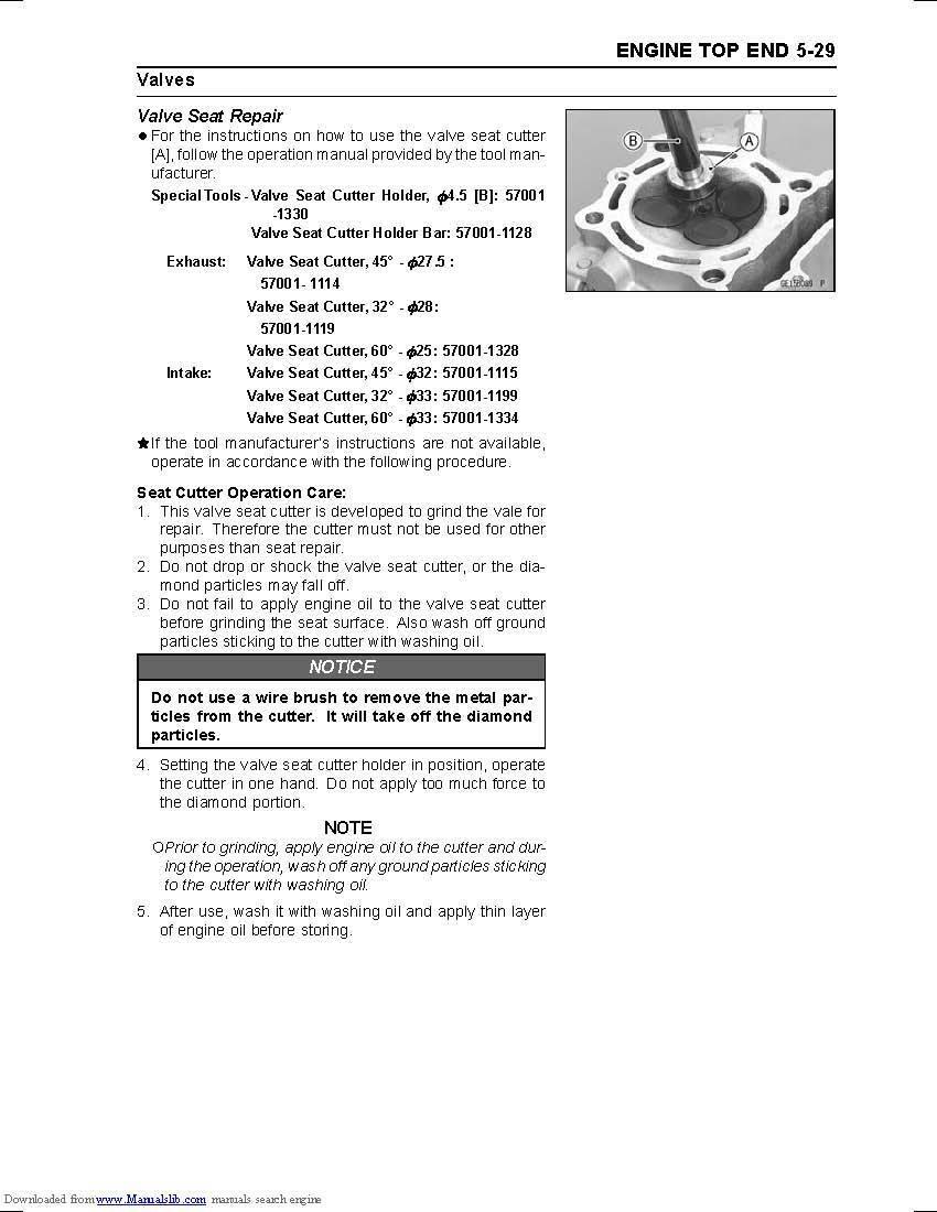 9 of 12 Kawasaki service workshop manual 2011 & 2012 KX250F