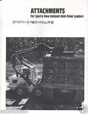 Equipment Brochure - Sperry New Holland - Skid Steer Loader Attachments E1700