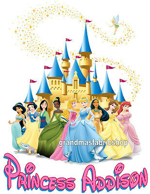 New Personalized Custom Disney Princess T Shirt Party Favor Birthday Gift ](Personalized Disney Princess Gifts)