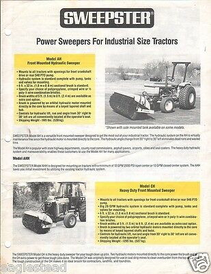 Equipment Brochure - Sweepster - Ah Ch Sweeper Industrial Tractor C1988 E2128