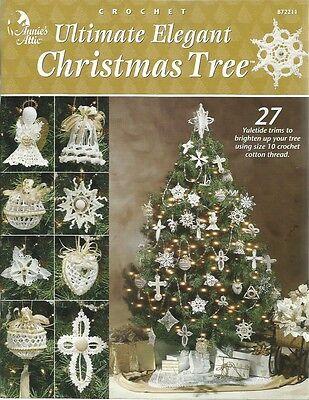 Ultimate ELEGANT Christmas Tree Crochet Pattern Book Ornament Skirt Stocking NEW ()