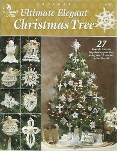 Ultimate ELEGANT Christmas Tree Crochet Pattern Book Ornament Skirt Stocking NEW
