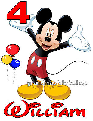 NEW Personalized Custom Mickey Mouse Birthday T Shirt Gift Party Add Name & Age - Mickey Mouse Custom
