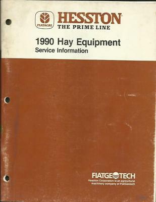 Hesston 1990 Hay Equipment Service Information Good