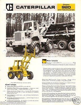 Equipment Brochure - Caterpillar - 920 - Log Loader Logging - French E1834
