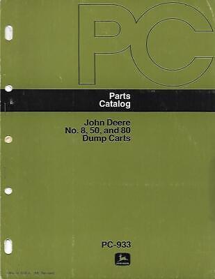 John Deere No. 8 50 And 80 Dump Carts Parts Catalog