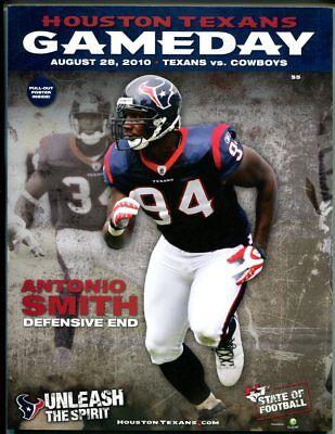 2010 Houston Texans vs Dallas Cowboys Program 8/28/10 46942 PFB2