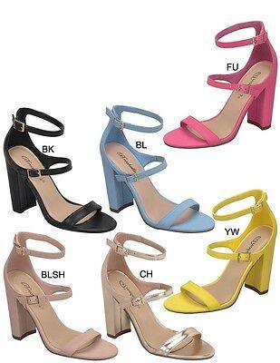 Mary Jane Chunky Heel (New Open Toe Buckle Ankle Strap Mary Jane Chunky Block High Heel Pump Sandal)