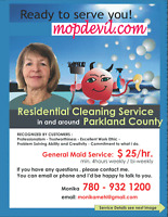 Cleaning Service in Parkland County (Stony Plain and Devon)
