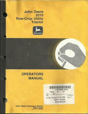 John Deere 2010 Row-crop Utility Tractor Operators Manual