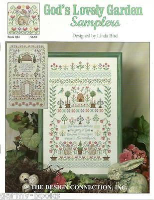 God's Lovely Garden Samplers Linda Bird Design #84 Cross Stitch Pattern 2001 NEW
