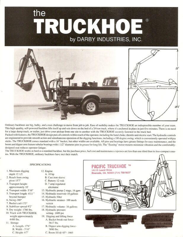 Equipment Brochure - Darby - Truckhoe - Pickup Truck Backhoe (E1770)
