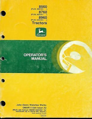 John Deere 856087608960 Tractors Operators Manual