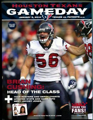 2010 New England Patriots vs Houston Texans Football Program Brian Cushing
