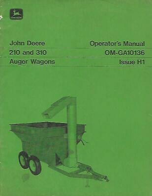 John Deere 210 And 310 Auger Wagons Operaotrs Manual