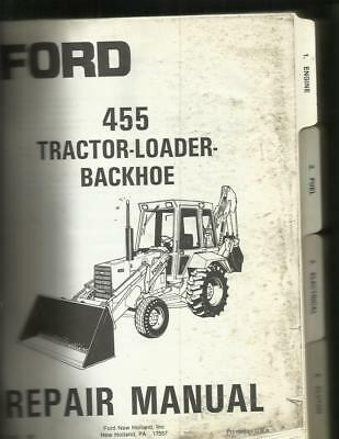 Ford 455 Tractor Loader Backhoe Repair Manual