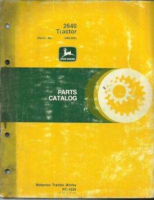 John Deere 2640 Tractor Parts Catalog