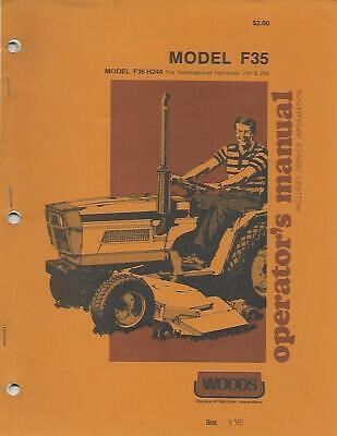 Woods Model F35 For International Harvester 244254 Operators Manual