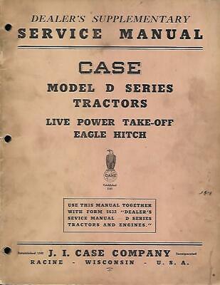 Case Model D Tractors Service Manual