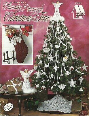 Ultimate PINEAPPLE Christmas Tree Crochet Pattern Book Ornaments Skirt Angel NEW ()
