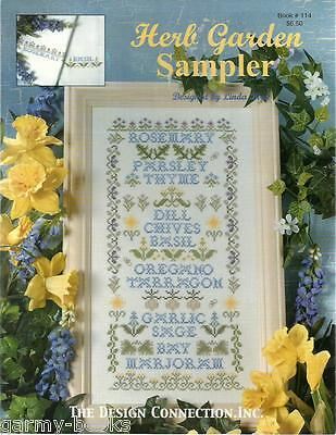 Herb Garden Sampler Linda Bird Design Connection #114 Cross Stitch Pattern NEW (Herb Garden Sampler)