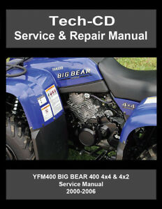 Yamaha YFM400 Big Bear Service Repair Manual 2000 2001 2002 2003 2004 2005 2006