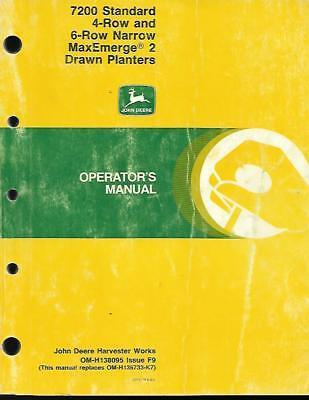 John Deere 7200 Standard Maxemerge 2 Drawn Planters Operators Manual