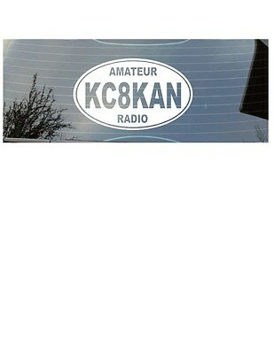 HAM AMATEUR RADIO CALL SIGN VINYL DECAL/STICKER EURO OVAL - Oval Vinyl Sticker