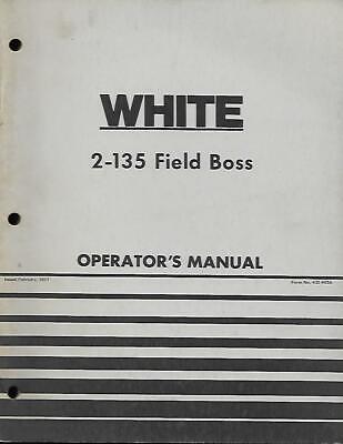 White 2-135 Field Boss Tractor Operators Manual