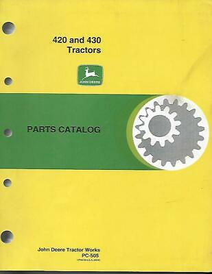 John Deere 420 And 430 Tractors Parts Catalog