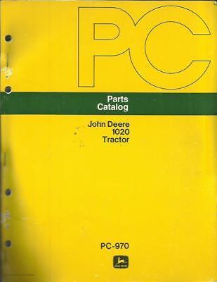 John Deere 1020 Tractor Parts Catalog