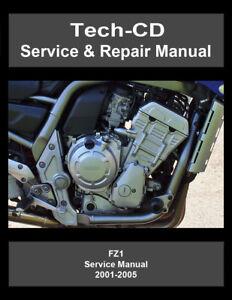 Yamaha FZ1 Service & Repair Manual FZ-1 FZS1000 2001 2002 2003 2004 2005