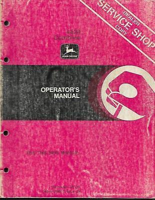 John Deere 4420 Combine Operators Manual