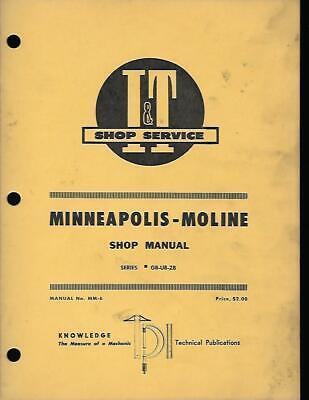 Minneapolis Moline Gbub And Zb Series Tractors I T Shop Manual