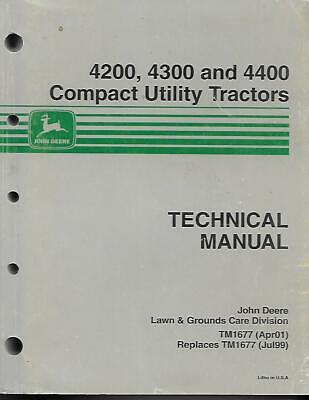 John Deere 4200 4300 And 4400 Compact Utility Tractors Technical Manual