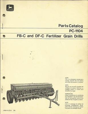 John Deere Parts Catalog For Fb-c And Df-c Fertilizer Grain Drills