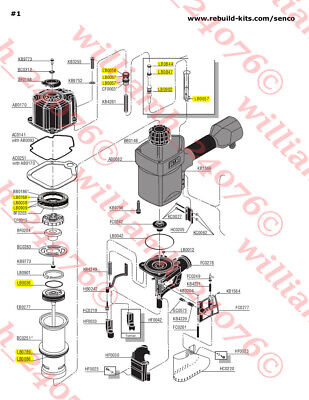 Senco Scn65 Scn60 Framing Nailer O-ring Kit