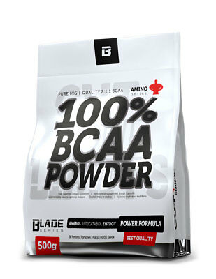 BCAA Pulver - 500g - 100% BCAA + Glutamin - BCAAs - BLADE Series-HiTec Nutrition Muskelaufbau