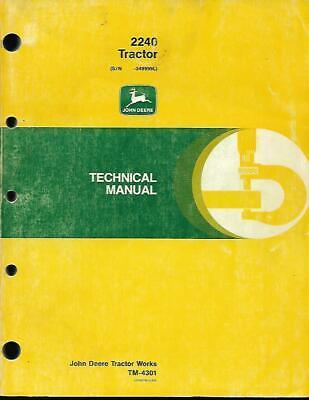 John Deere 2240 Tractor Technical Manual