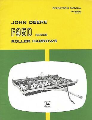 John Deere F950 Series Roller Harrows Operators Manual